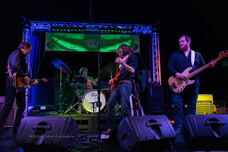 Joel Fisk & The Breakdown onstage at Darlington Rhythm & Blues Club, 2016. Photo by John Finlayson